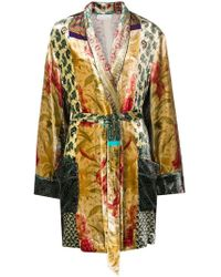 Pierre Louis Mascia Embroidered Fitted Coat - Multicolor