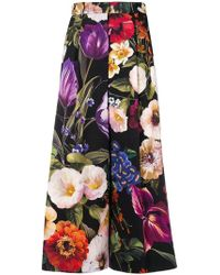 Dolce & Gabbana - Floral Print Culottes - Lyst