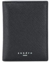 Sandro Embossed Logo Bi-fold Wallet - Black