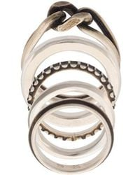 Werkstatt:münchen - Twisted & Embossed Ring Set - Lyst