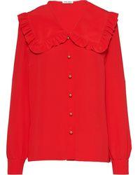 Miu Miu オーバーサイズカラー シャツ - レッド