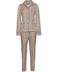 Prada Printed Silk Pyjamas