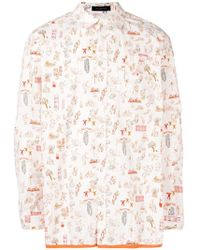 Undercover - Drawing Print Shirt - Lyst