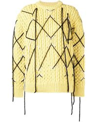 CALVIN KLEIN 205W39NYC Klassischer Intarsien-Pullover - Gelb