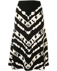 PROENZA SCHOULER WHITE LABEL ジャカード スカート - ブラック