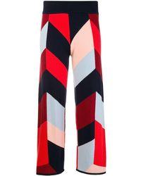 Chinti & Parker Geometric Pattern Cropped Trousers - Синий