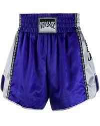 Versace Pantalones cortos de deporte 12 Via Gesù - Azul