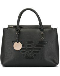 Emporio Armani Eagle Logo Tote Bag - Black
