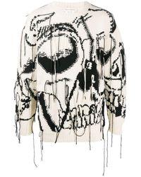 Alexander McQueen Trui Met Doodskopdetail - Wit