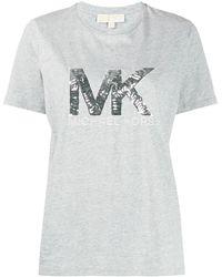 MICHAEL Michael Kors スパンコールロゴ Tシャツ - グレー