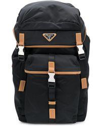 Prada - Rucksack mit Logo-Schild - Lyst