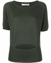 Christopher Esber Cut-out Knit Top - Green
