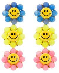 Venessa Arizaga | Happy Flower Earrings | Lyst