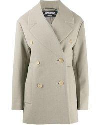 Jacquemus Двубортное Пальто - Естественный