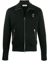 AMI Куртка На Молнии С Нашивкой-логотипом - Черный