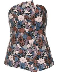 Tufi Duek Floral jacquard top - Multicolore