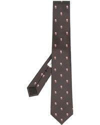 Alexander McQueen Silk Skull Pattern Tie - Black