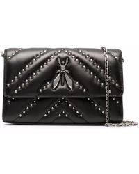 Patrizia Pepe Tracolla Media Fly Quilted Bag - Black