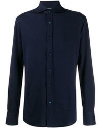 Brunello Cucinelli Поплиновая Рубашка - Синий