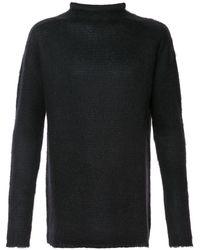 Rick Owens ロールネック セーター - ブラック