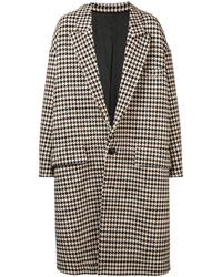 AMI Oversize Two Buttons Coat - Brown