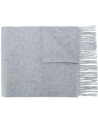 N.Peal Cashmere Woven Scarf - Grijs