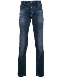 Philipp Plein Alexia Distressed Skinny Jeans - Синий