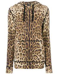 Dolce & Gabbana - Sudadera con capucha y motivo de leopardo - Lyst