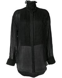 Karen Walker Obsidian Pleated Shirt - Black