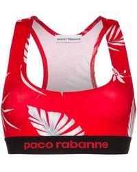 Paco Rabanne Hawaiian Print Sports Bra - Red