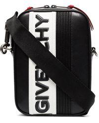 Givenchy Mc3 Logo Crossbody Bag - Black