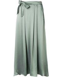 Forte Forte - Knot Detail Silk Skirt - Lyst