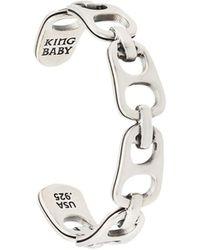 King Baby Studio Bracelet à design structuré - Métallisé