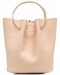 Gentry Portofino Loop-handle Leather Tote Bag - Multicolor