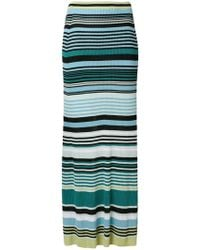 Diesel Black Gold - Striped Ribbed Skirt - Lyst