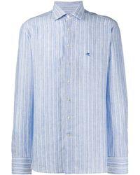 Etro - Рубашка С Логотипом - Lyst