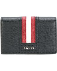 Bally Logo Stripe Wallet - Black