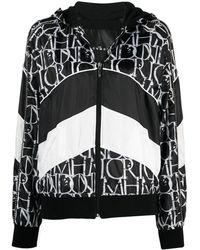John Richmond Zip-front Hooded Sweatshirt - Black
