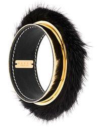 Marni | Fur-trimmed Bangle | Lyst