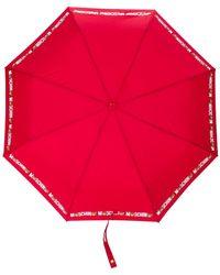 Moschino レオパードプリント 傘 - レッド