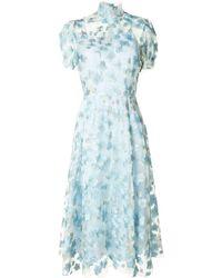 Macgraw Porcelain フローラル ドレス - ブルー
