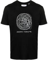 Societe Anonyme プリント Tシャツ - ブラック