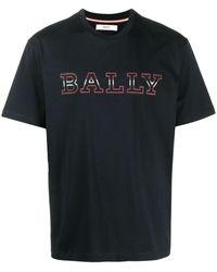 Bally ロゴアップリケ Tシャツ - ブルー
