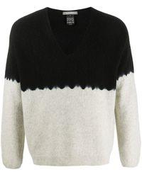 Suzusan Pullover mit V-Ausschnitt - Schwarz