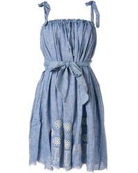 Innika Choo ストラップ ドレス - ブルー