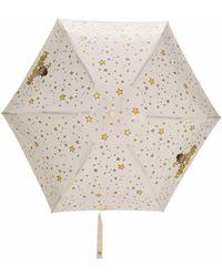 Moschino Paraguas con estampado Teddy Bear - Multicolor