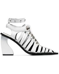 Marques'Almeida - White 100 Caged Leather Boots - Lyst