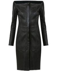 Tufi Duek - Leather Short Dress - Lyst