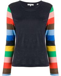 Chinti & Parker Striped Sleeve Sweater - Blue