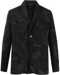 Avant Toi ダメージ シングルジャケット - ブラック